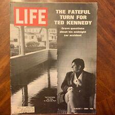 LIFE Magazine~August 1 1969 ~ Ted Kennedy - Dyke Bridge ~ The Moonshot~ Ads (1)