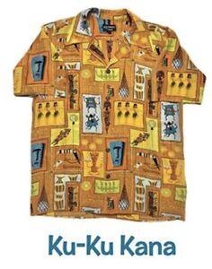 Shag Tiki Week Ku Ku Kana Hawaiian Aloha Shirt sz Large LE 100% Silk