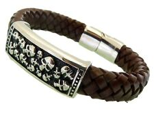 Leather Bracelet Stainless Steel Magnetic Clasp 12MM Width Premium Quality Range