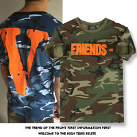 US STOCK VLONE for Know Wave A $ AP Bari Virgil FRIENDS T-shirt Camouflage S-XL
