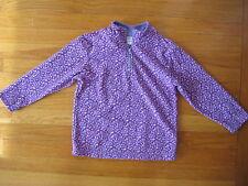 Hanna Andersson purple animal print FLEECE PULLOVER jacket coat 5 6 sweater 110