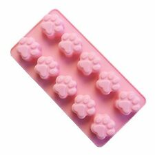 Mini Paws Pet Dog Paw Silicone Soap mold Candy Chocolate Fondant Tray ICE Cube