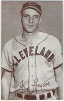 1947-66 Exhibit Card (W461) of Jim Hegan, Cleveland Indians, EX-EX/MT