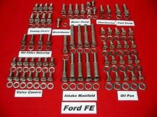 Ford Fe 352 390 406 427 428 Stainless Steel Engine Hex Bolt Kit