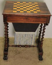 stunning American victorian Rosewood Chess, Game ,Table /Sewing Table c.1840