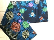 Batik Cotton Fabric Sarong Wrap Long Skirt Thai Style The Best Thai Blue Gold
