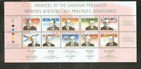 Canada SC # 1709a-j Provincial Leaders . MNH