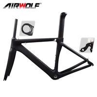 Composite Full Carbon Fiber Frame Set 700C Road Bike Frame Racing 48-56cm +Forks