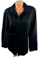 Roaman's black long sleeves women's plus size buttoned down top 22W