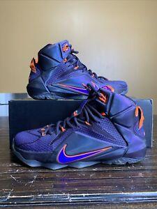 Nike LeBron XII 12 Instinct Basketball Shoes Size 8.5 Purple/orange 684593-583