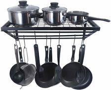 Zesproka Kitchen Wall Pot Pan Rack,With 10 Hooks,- New Other