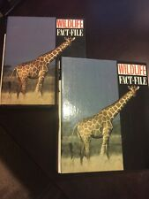 Two Wildlife Fact-File Binders w/200+ cards Sections 1-11 tabs w/Guide & ID
