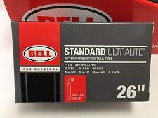 """New BELL Standard Ultralight 26"""" x 1.75"""" - 2.25"""" Bicycle Inner Tube Presta Valve"""