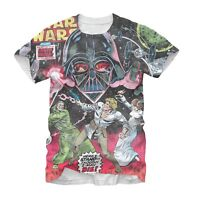 STAR WARS T-Shirt Battle With Vader Sublimation All Over New Authentic S-2XL