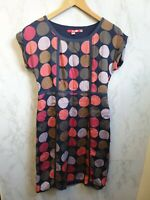 Boden Dress Size 8 Blue with Polka Dots Silk