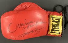 Marvin Hagler Signed Boxing Glove Everlast Autograph w Sugar Ray Leonard HOF JSA