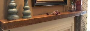 """Floating Shelf, Thick Shelf, Floating Mantel, 3"""" floating shelves, Barnwood, USA"""
