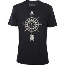 Electric Direction Short Sleeve Tee T-Shirt (M) Black