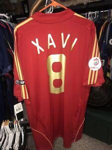 Adidas 2007-2008 XL Xavi Hernandez Spain Home Shirt Jersey Camiseta Maillot NWT