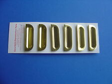 1957-57 CHEVROLET BEL AIR FRONT GOLD FENDER LOUVERS-SET OF 6-GENE SMITH-NEW