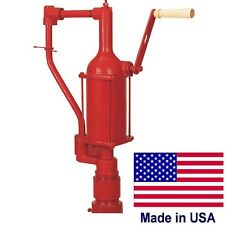 Iron Hand Pump - Fuel Transfer - 1 Quart or Liter Per Stroke - Industrial - USA