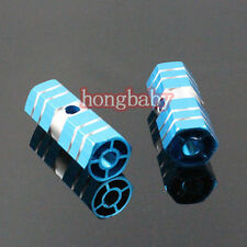 "1pair New BMX Bike Bicycle Cylinder Aluminum Alloy 3/8"" Axle Foot Pegs Blue"