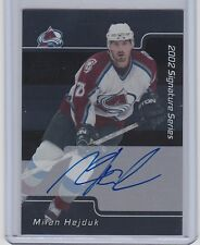 2001-02  BE A PLAYER SIGNATURE SERIES MILAN HEJDUK BAP AUTO SP AVALANCHE