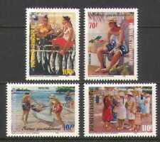 French Polynesia 1998 Fish/Boat/Village 4v set (n20598)