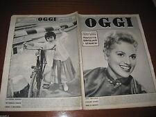 OGGI=1957/39=JUDY HOLLIDAY=MARINA DI VIETRI=SAN ROSSORE=CICCIO BUSACCA=CASORATE=