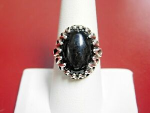 Kabana Sterling Silver Ring with Black Onyx Stone
