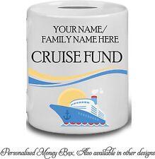 Personalised Cruise Holiday Fund Money Box Savings Piggy Bank