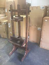 Vintage Reclaimed Wood Primitive Metal Antique Flat Tv Stand Rack Art Easle NEW