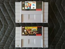 Super Nintendo (Snes) 2 Game Lot - Earthworm Jim & Donkey Kong Country 2