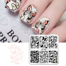 Butterfly Nail Stamping Stamp Template Plates Flower Metal  BORN PRETTY