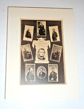 Abraham Lincoln Carte de Visite CDV with nine different images of Lincoln!