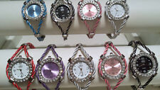 Joblot of 18 Mixed colour Wire Cable Diamante Watches new wholesale - lot P