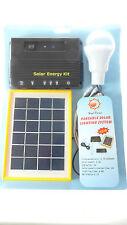 PORTABLE 2.5W SOLAR LIGHTING KIT +PHONE CHARGER  CABLES LIGHT SOLAR PANEL 3.7V