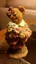 """Boyds Bears & Friends The Bearstone Collection """"Merci Abunch, Many Thanks"""""""