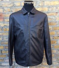 Linea Mens Black Leather Jacket Size Small