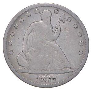 50c - Better - 1877 - Seated Liberty Half Dollar *366