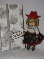 "Reproduction Tiny Terri Lee ""Happy Trails"" Cow Girl  Doll W/Box"
