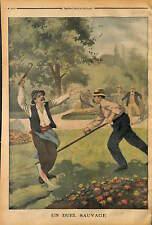 Caloire Çaloire BAGARRE SANGLANTE A COUP DE FAUX ET GRIFFES PAYSANS 1902