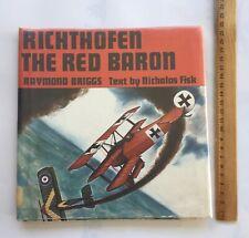 Richthofen The Red Baron Illustrated Book Raymond Briggs Nicholas Fisk 1968