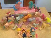 Vintage My Little Pony/Strawberry Shortcake Large Lot G1