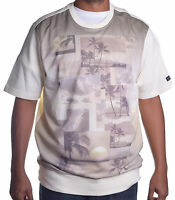 Sean John Mens Floral Cream SS Crewneck Sweatshirt Size 2XL