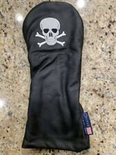 """VERY COOL! Brand New Stitch """"Bonesman"""" Leather Driver Head cover"""