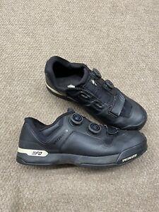 Specialized 2FO Cliplite Mens Cycling Shoes Size 9.6 US 43 EU Black Grey