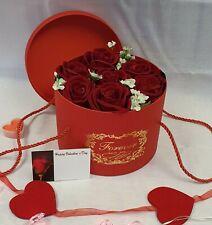 Artificial Velvet Red Rose Bouquet Silk Flowers 8 Flower Head Wedding Valentine