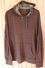 Purple Hooded Shirt Henley Burgundy Long Sleeve Large American Eagle Outfitters