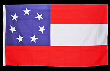 American Civil War ACW Southern Confederacy 5x3ft Stars & Bars Flag